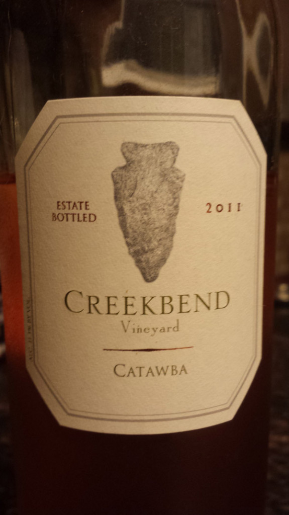 Creekbend Vineyards Catawba Wine