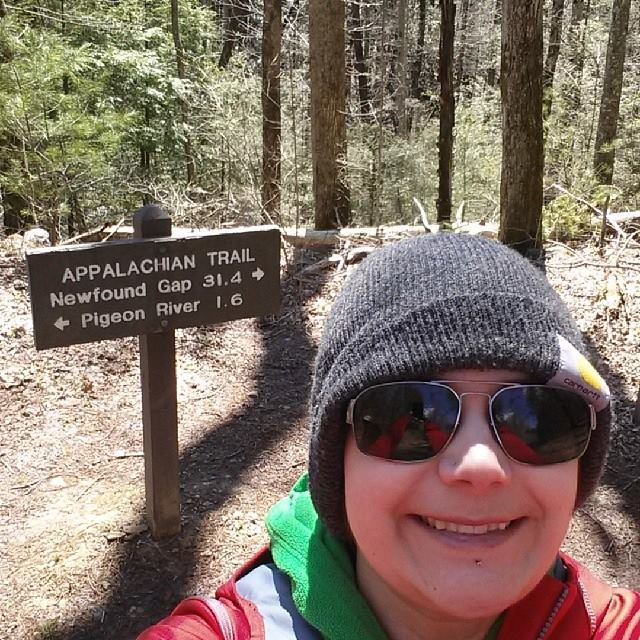 I hiked 2 miles on the Appalachian Trail!