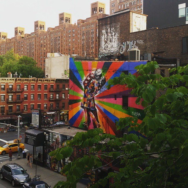 Street Art along High Line Park, Manhattan, NYC